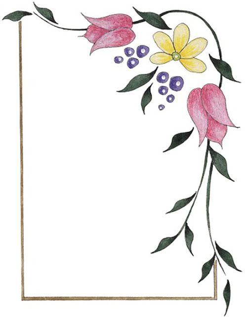 Bordes Decorativos: Bordes decorativos de flores para imprimir ...