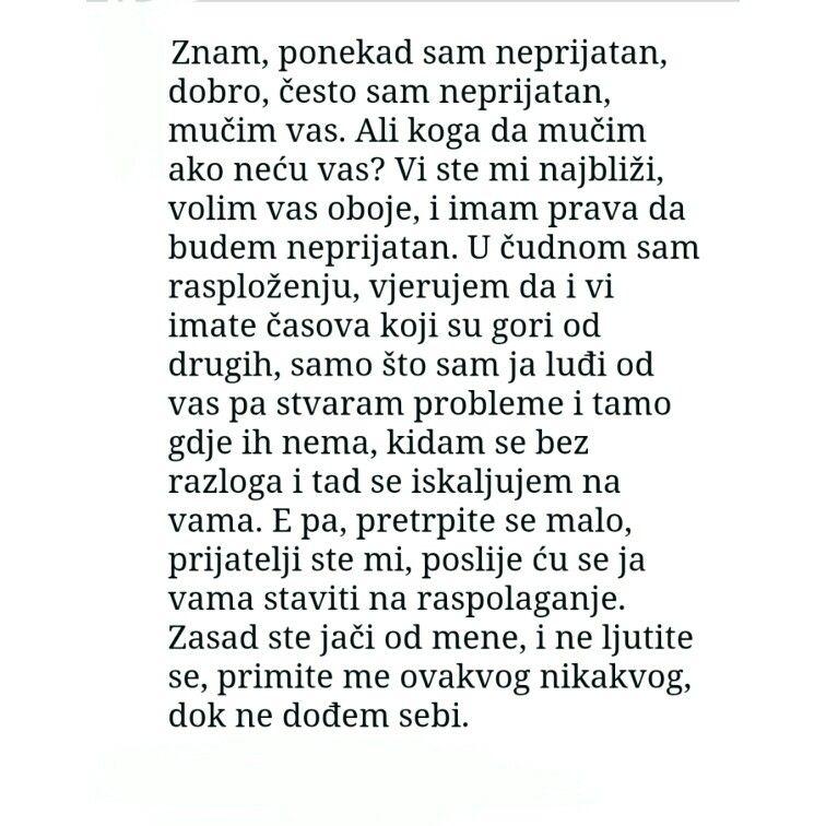 Meša Selimović, Tišine