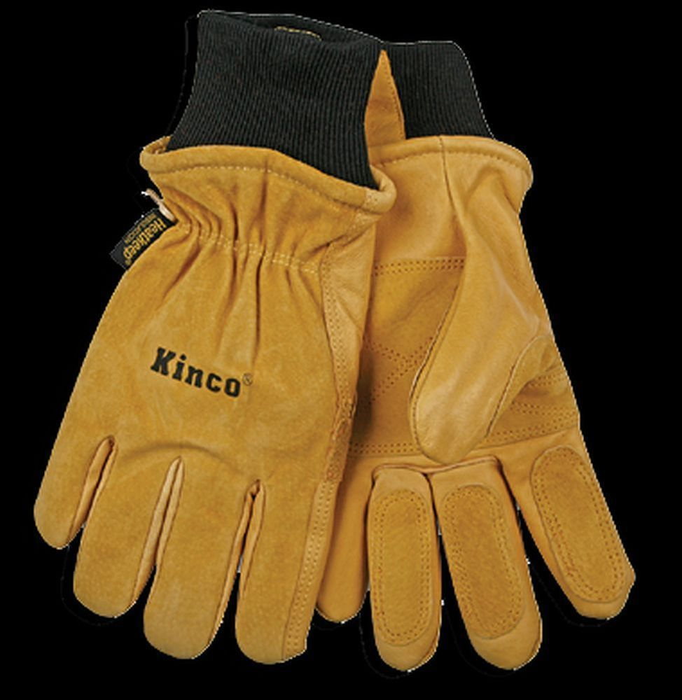 Leather work gloves sale - Kinco 901 Frost Breaker Leather Ski Gloves Heatkeep Winter Work Thermal Pigskin Kinco Skigloves