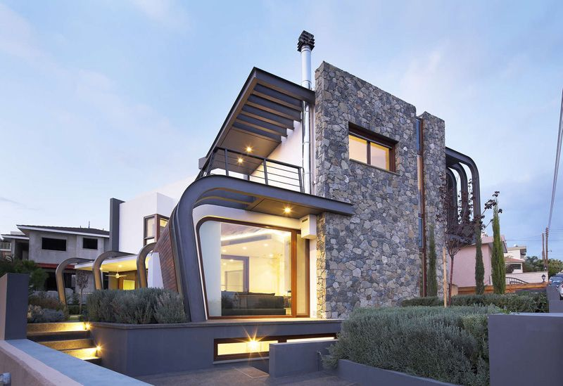 tsikkinis architecture studio has designed the laiki lefkothea residence located in limassol cyprus modern architectureresidential - Greek Modern Home Architecture Design