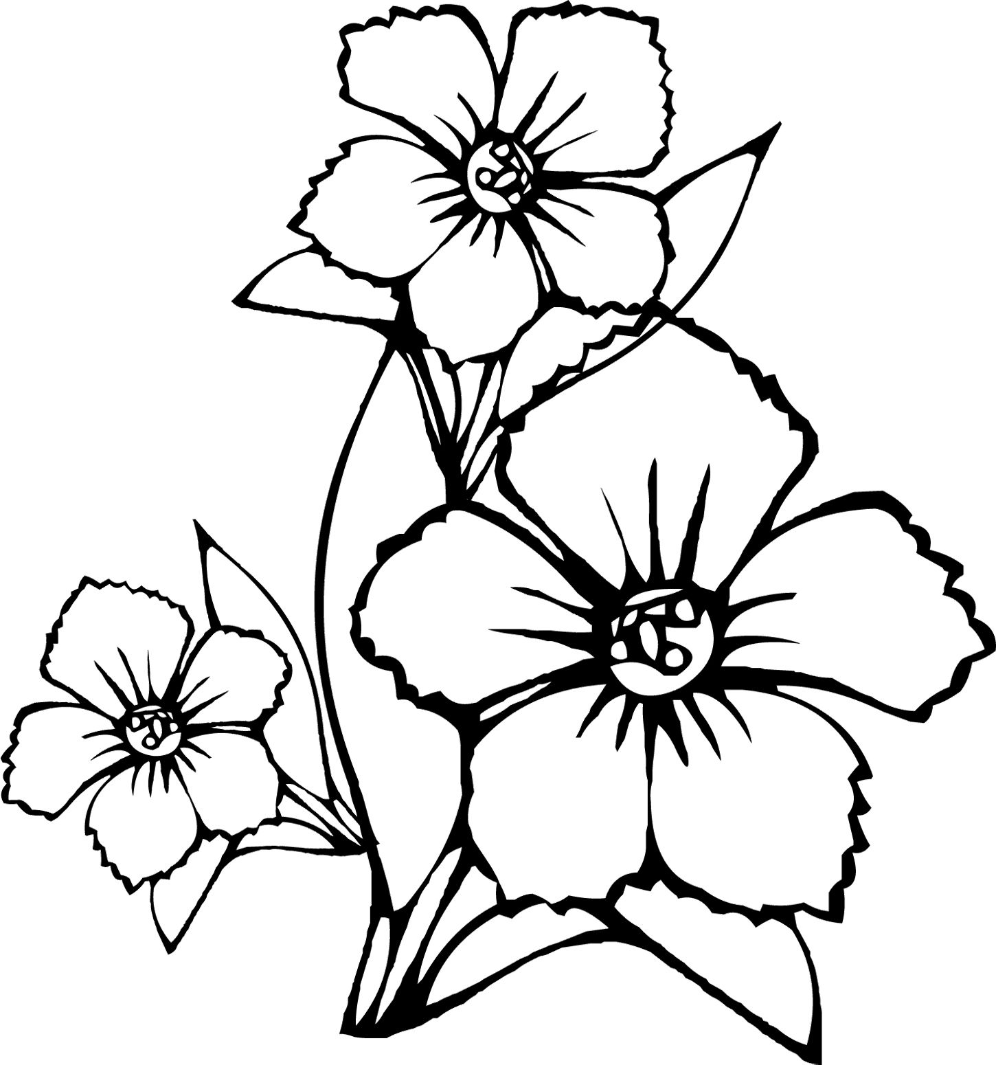 Colouring in pictures of flowers - Coloring Pages Of Flowers Coloring For Kids Online Coloring