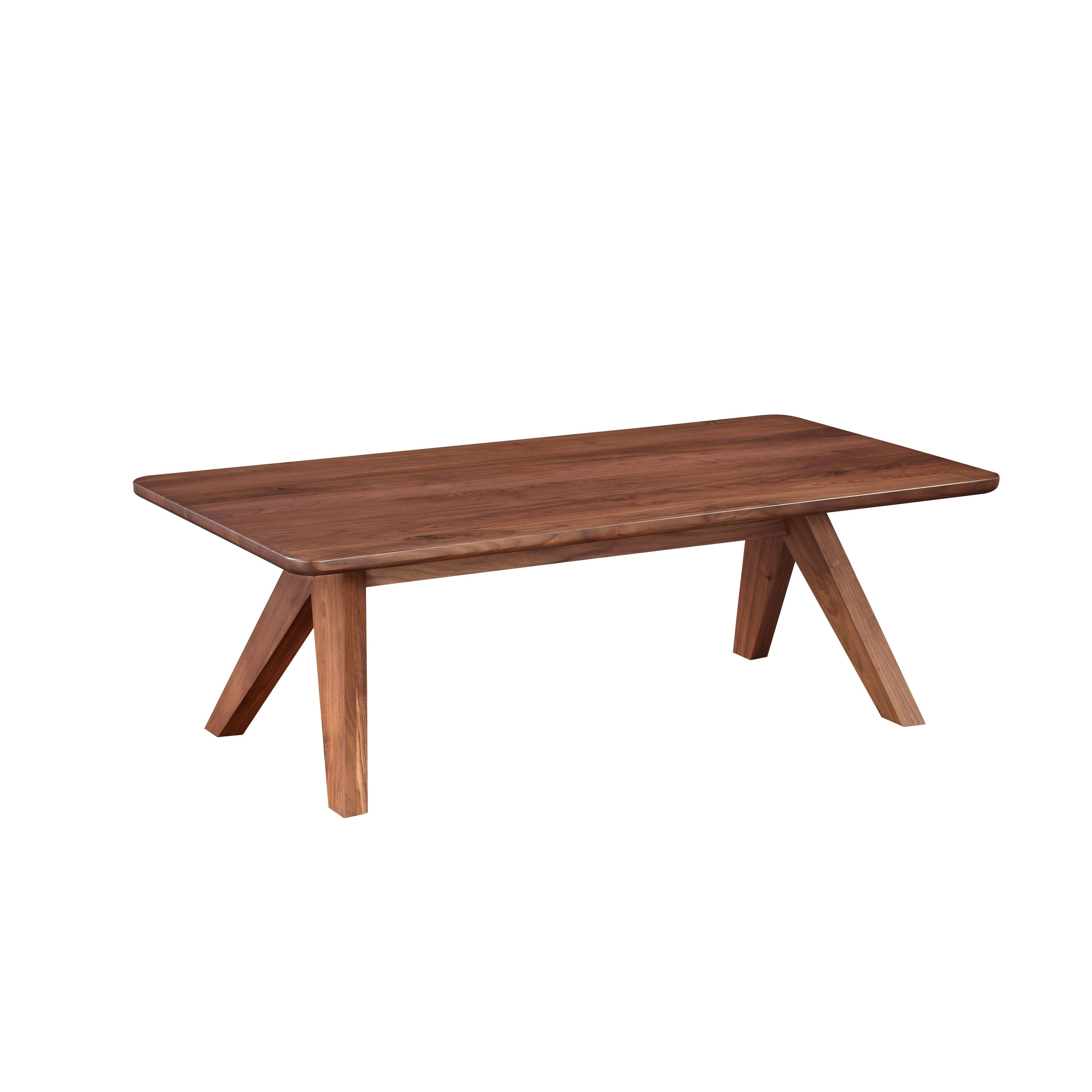 Aurelle Home Brown Solid Walnut Coffee Table