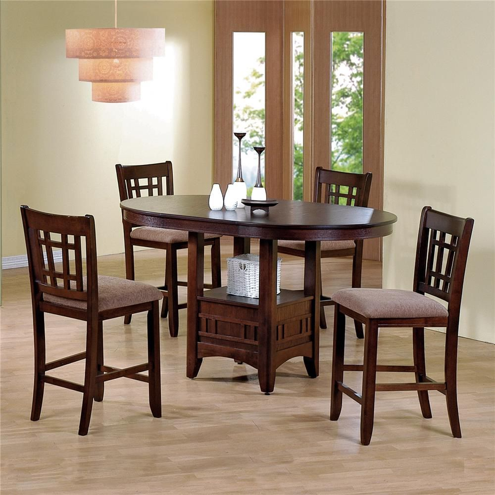 Empire 5 Piece Counter Height Table And 4 Chairs $49900 Table Gorgeous Pub Height Dining Room Sets Review