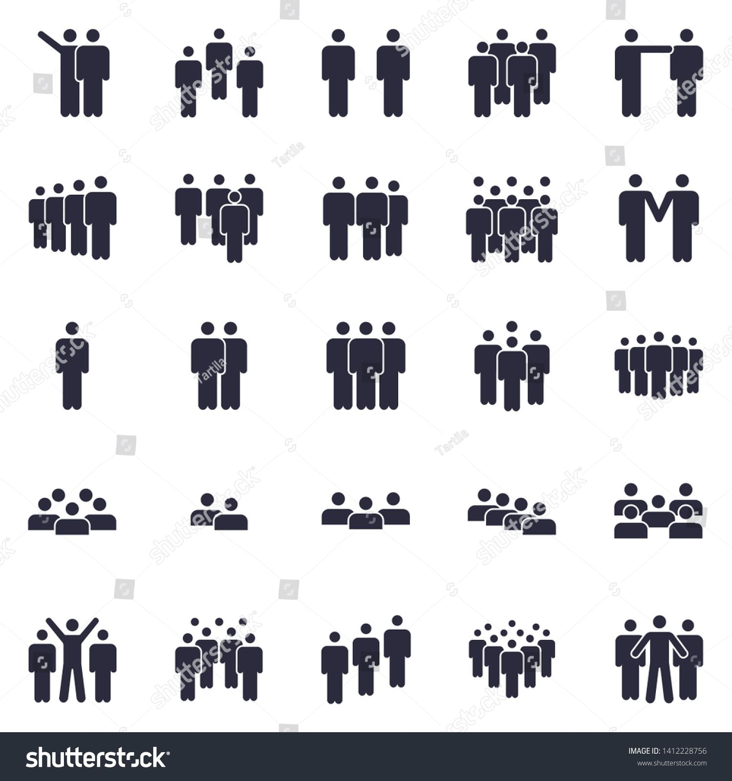 Groups Of Persons Icon Business Team Person Office Teamwork People Symbol And Work Group Persons Crowd Human Member Fig In 2020 Person Icon Icon Stock Illustration
