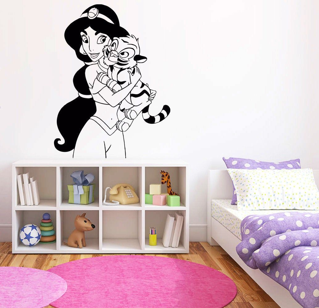 Princess Jasmine Wall Decal Aladdin Wall Decor Cartoon Wall