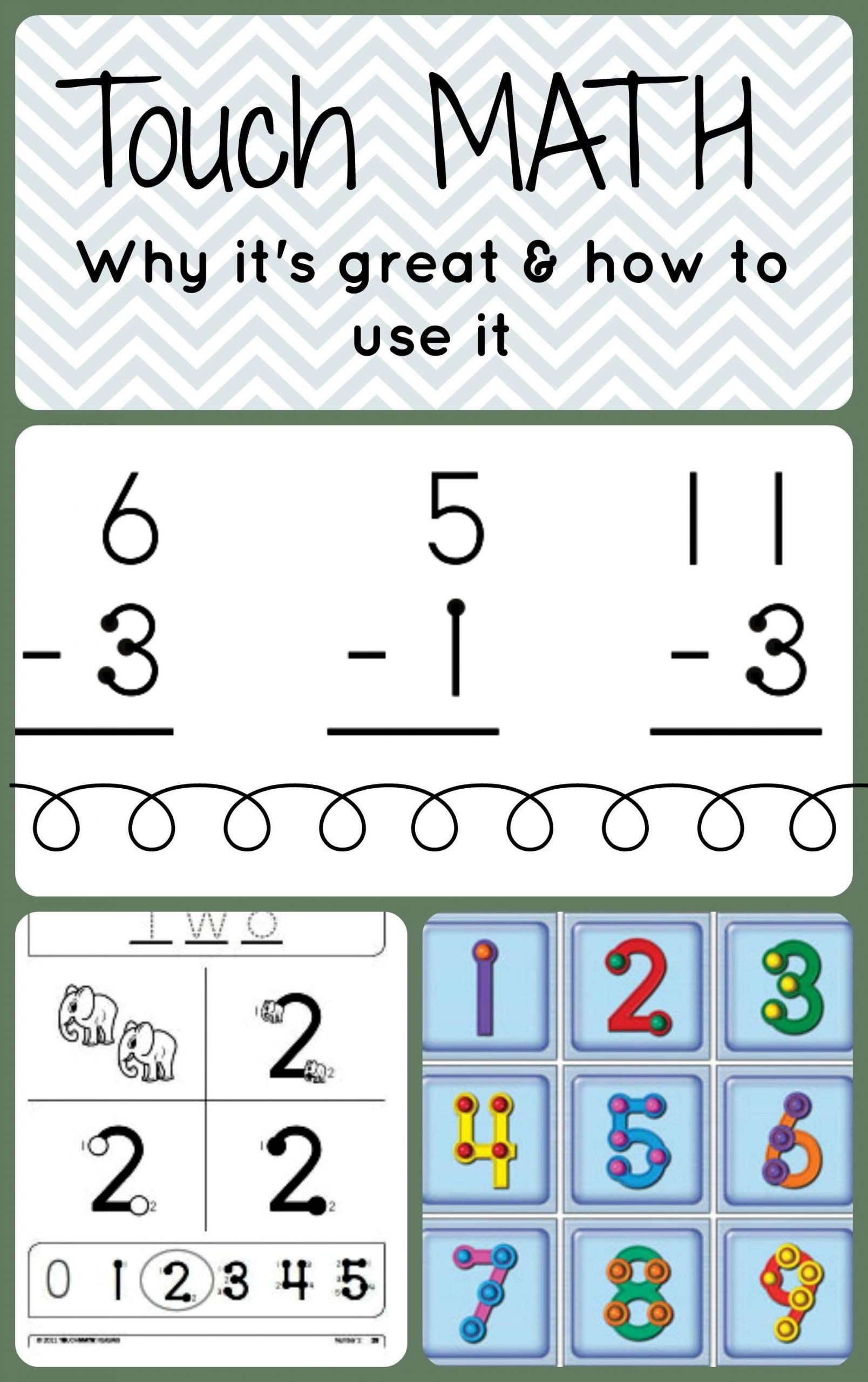 Touch Math Addition Worksheets 5 Touch Math Addition
