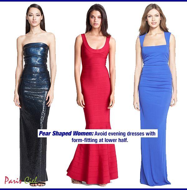 Dress styles for pear shaped women