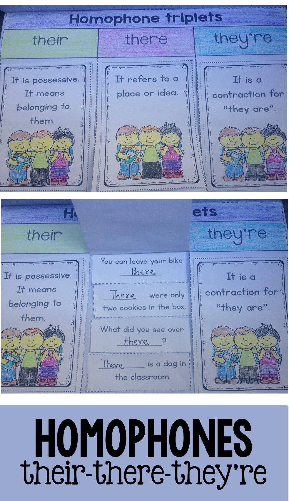 Homophones Their There And They Re Reading Worksheets Homophones Kindergarten Skills [ 1701 x 983 Pixel ]