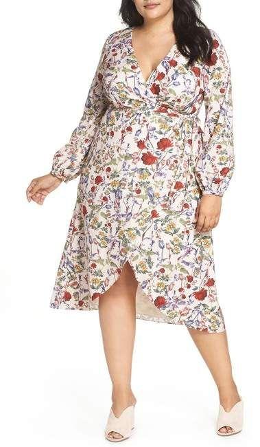 Chelsea28   Floral Wrap Hi-Lo Dress (Plus Size in 2019 ...