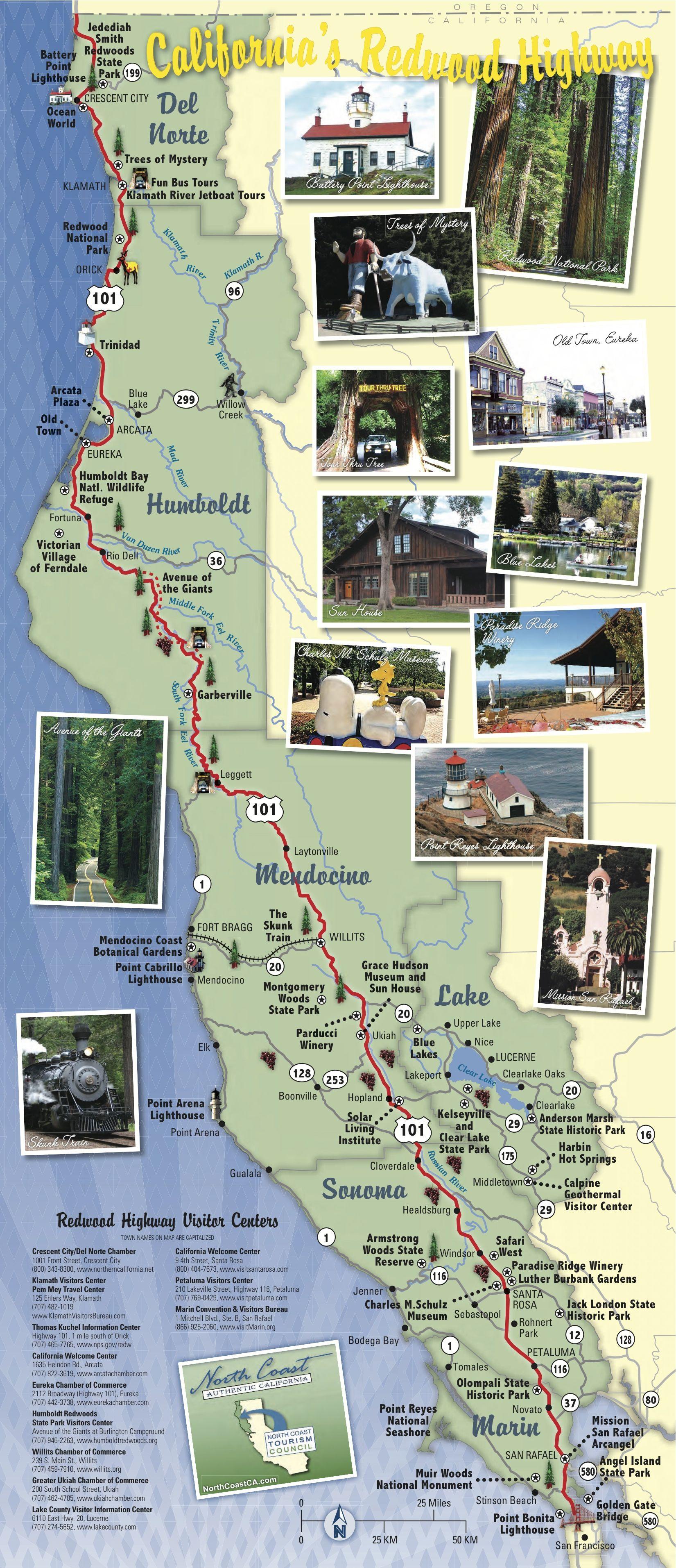 Road Trip Up The California Coast This Idea Could Make A Fun - Us west coast tourist map