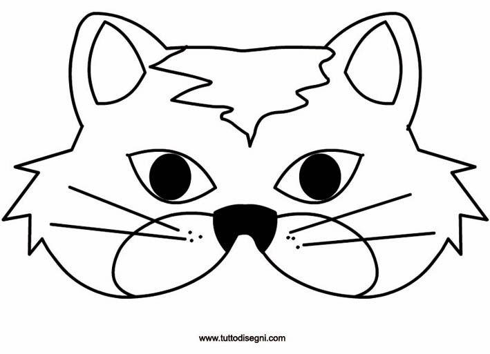 Gatto Maschera Da Stampare E Colorare Tuttodisegni Com Cose Da