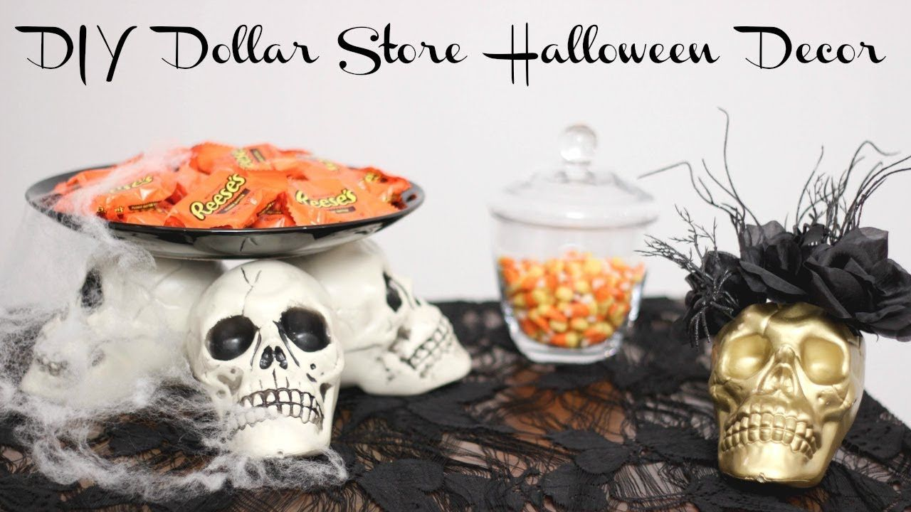 DIY HALLOWEEN DECOR FROM THE DOLLAR STORE Collab with PamOnSunset - halloween diy decor
