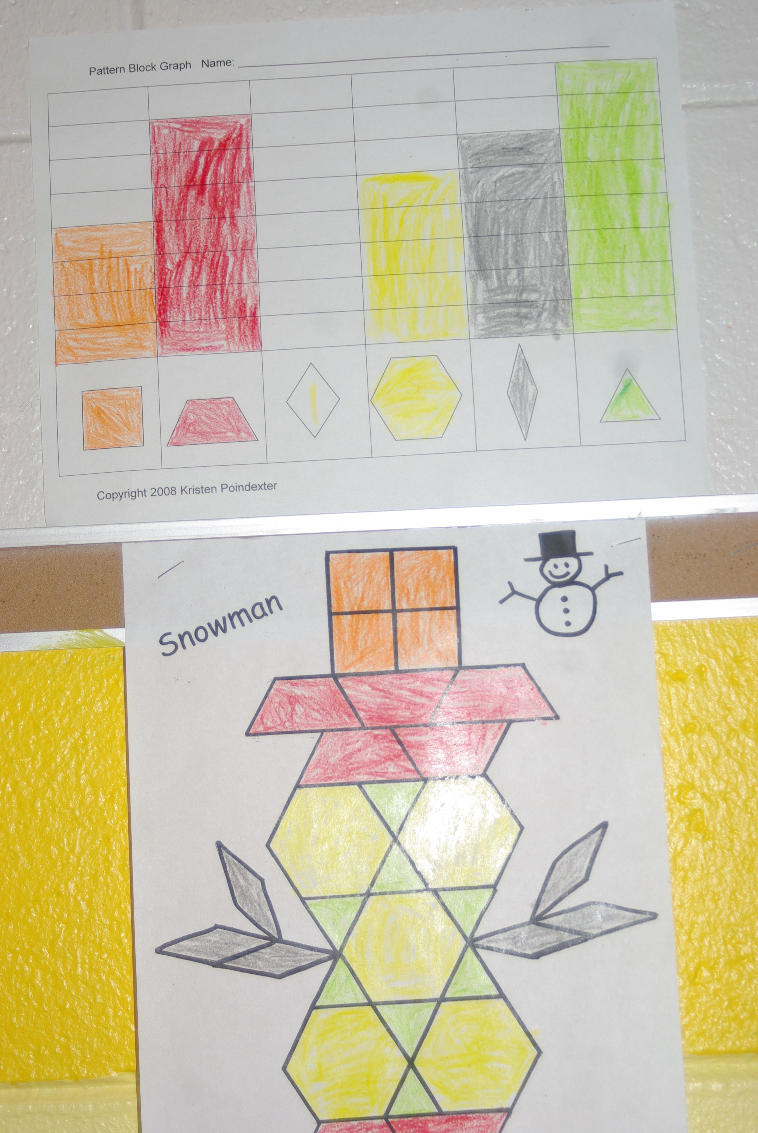 Pattern Block And Graph Great For Independent Math Center