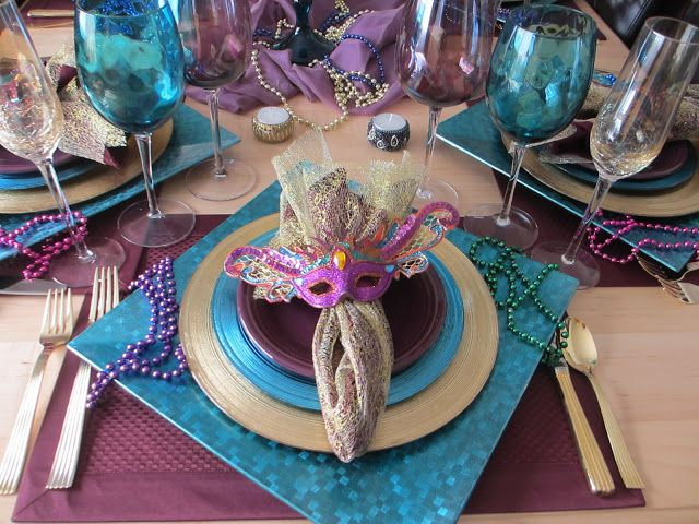 The Welcomed Guest Mardi Gras Tablescape with Fiesta® dinnerware & The Welcomed Guest: Mardi Gras Tablescape with Fiesta® dinnerware ...