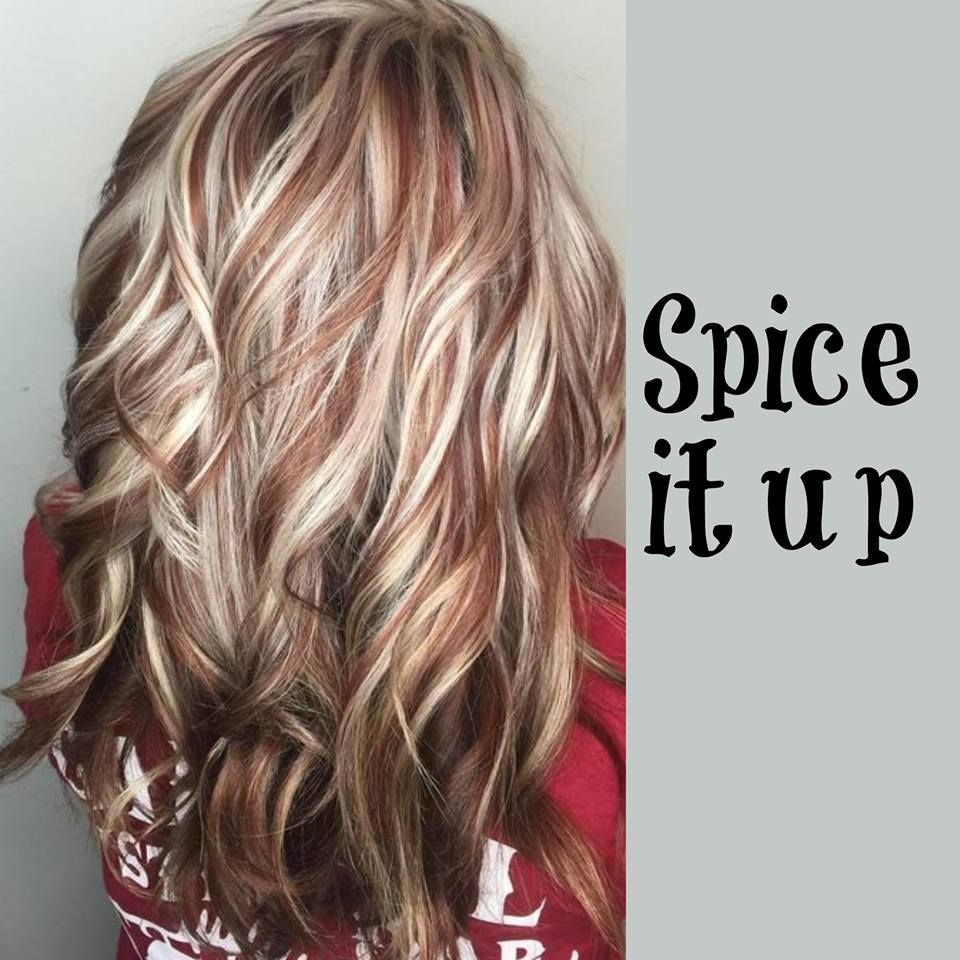 Blonde Hair Copper Highlights Hair Styles Hair Fall Hair