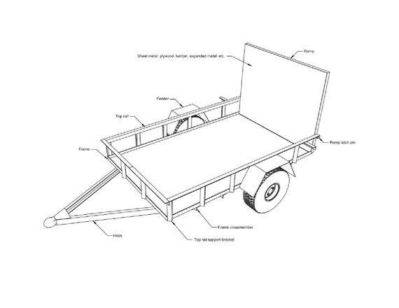 Build Your Own 5' x 8' Utility Trailer Plans DIY Open Lawn