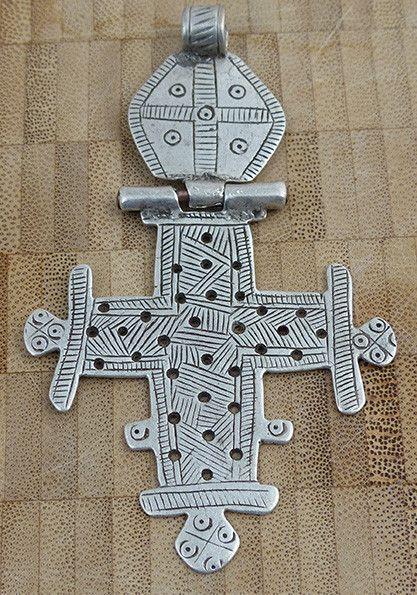 Antique Ethiopian Hinged Cross #1