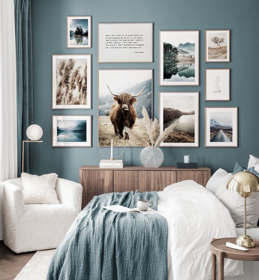Abenteuer Bilderwand blau Interieur Naturposter Landschaften ...