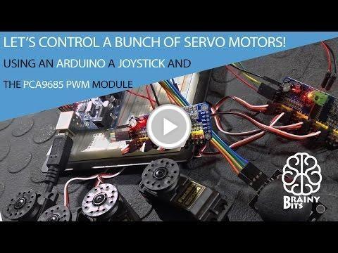 Control a 'LOT' of Servo Motors using a Joystick, Arduino