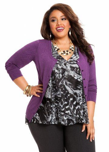 Ashley Stewart Women`s Plus Size Signature Cardigan - List price: $29.50 Price: $21.24 + Free Shipping