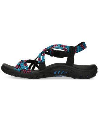 25fed70102a2 Skechers Women s Reggae Loopy Sport Sandals from Finish Line - Orange 10