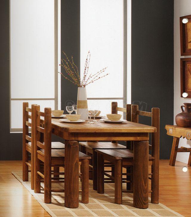 Comedor rustico en madera kitchen dinning room ideas pinterest dinning room ideas room - Decoracion de comedores rusticos ...