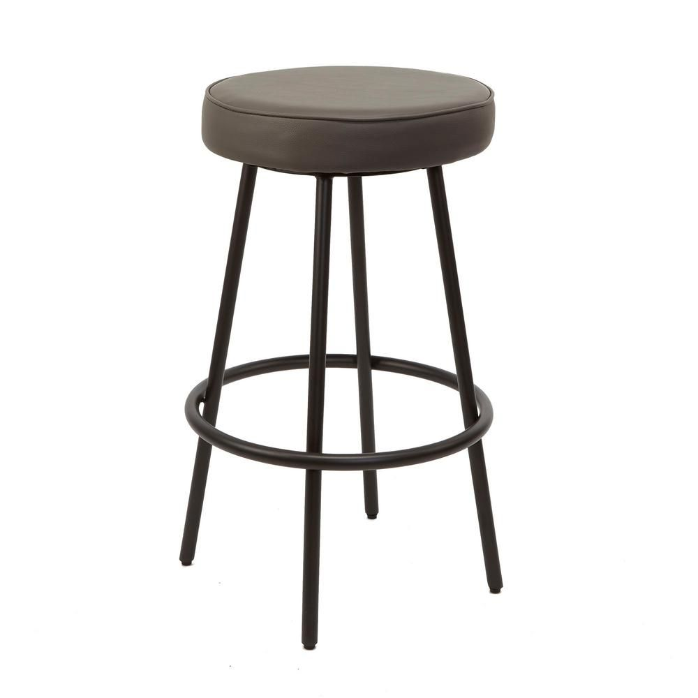 Silverwood Furniture Reimagined 29 In Charcoal Carly Metal