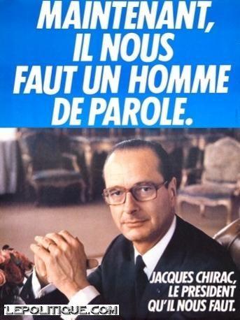 Chirac campaign poster