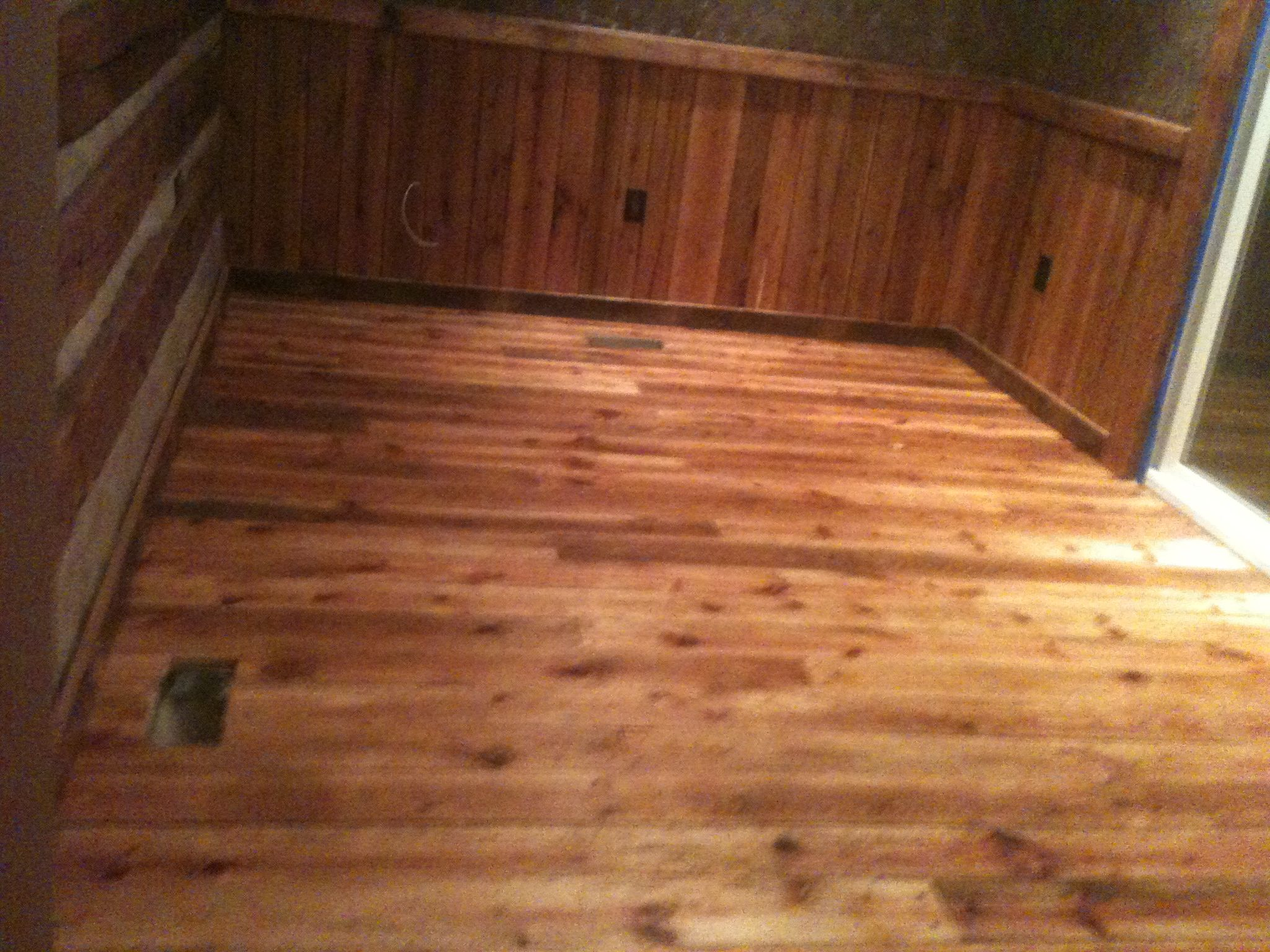 Varnished Old Saw Mill Tongue And Groove Floor Flooring Log Cabin Hardwood Floors
