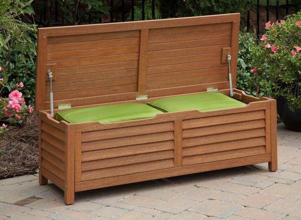 Home Styles Montego Bay Patio Deck Box 5661 25 At The Home Depot Outdoor Storage Bench Patio Deck Box Garden Storage Bench