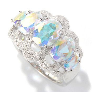 NYC II 3.09ctw Oval Fancy Topaz Stardust Finished Five-Stone Ring