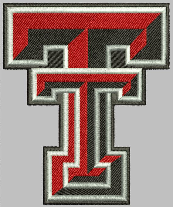 Texas Tech Embroidery Design File 3 Sizes 6 Formats Embroidery