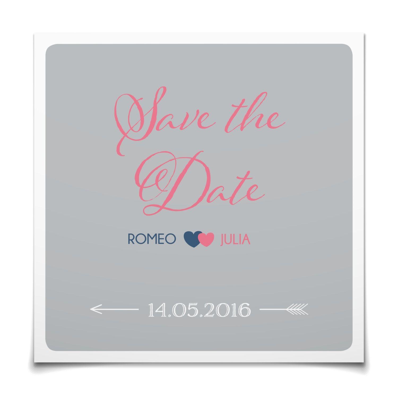 Save the Date Amors Pfeil in Silber - Postkarte quadratisch #Hochzeit #Hochzeitskarten #SaveTheDate #kreativ #modern https://www.goldbek.de/hochzeit/hochzeitskarten/save-the-date/save-the-date-amors-pfeil?color=silber&design=61d6c&utm_campaign=autoproducts