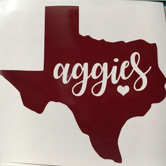 Texas A Amp M Sticker Texas Aggies Vinyl Tamu Decal By