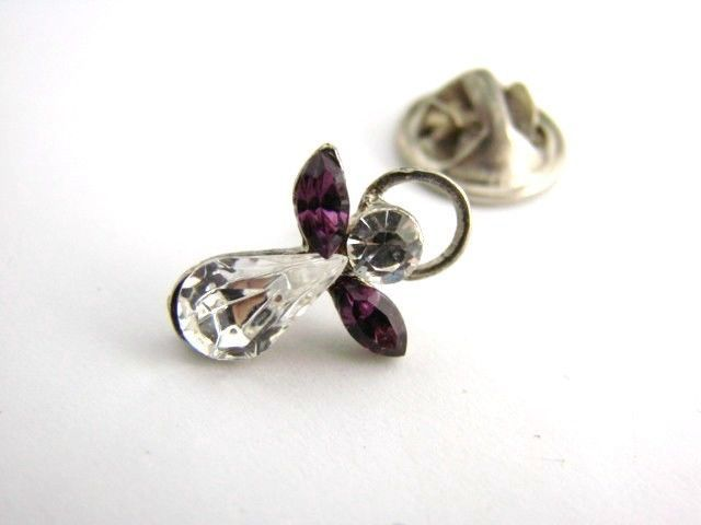 Vintage Rhinestone Tiny Angel Pin Brooch #vintage #jewelry