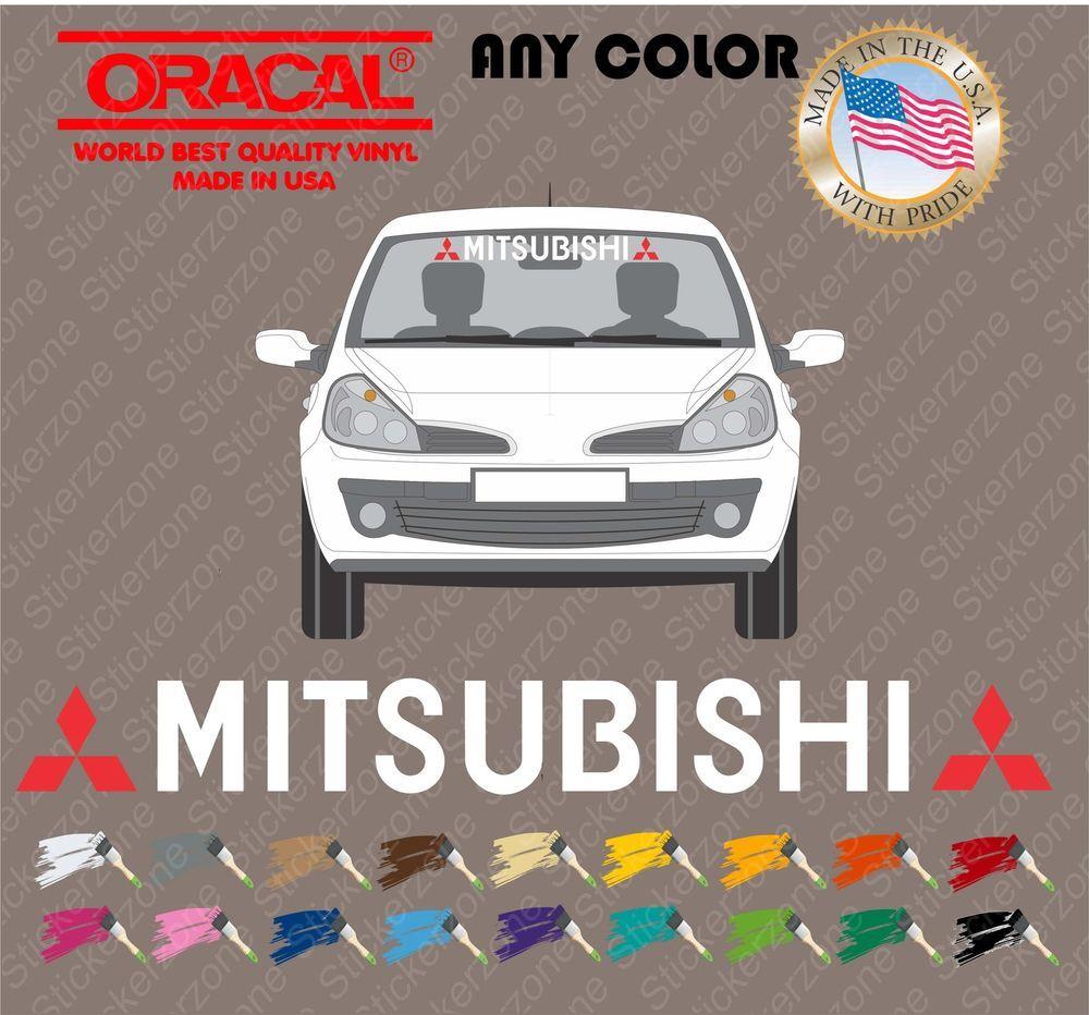 Car sticker design ebay - Mitsubishi Vinyl Windshield Banner Decal Sticker Car Sport Racing Ebay Motors Parts Accessories Car Truck Parts Ebay