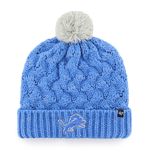2bfb942457e23 Detroit Lions INFANT   TODDLER 47 Brand Blue Fiona Cuff Knit Hat ...