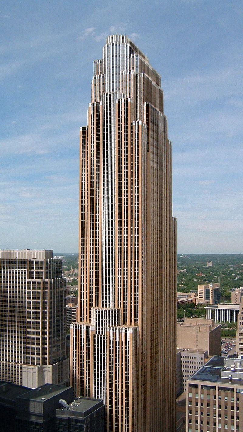 Wells Fargo Center From Foshay Postmodern Architecture