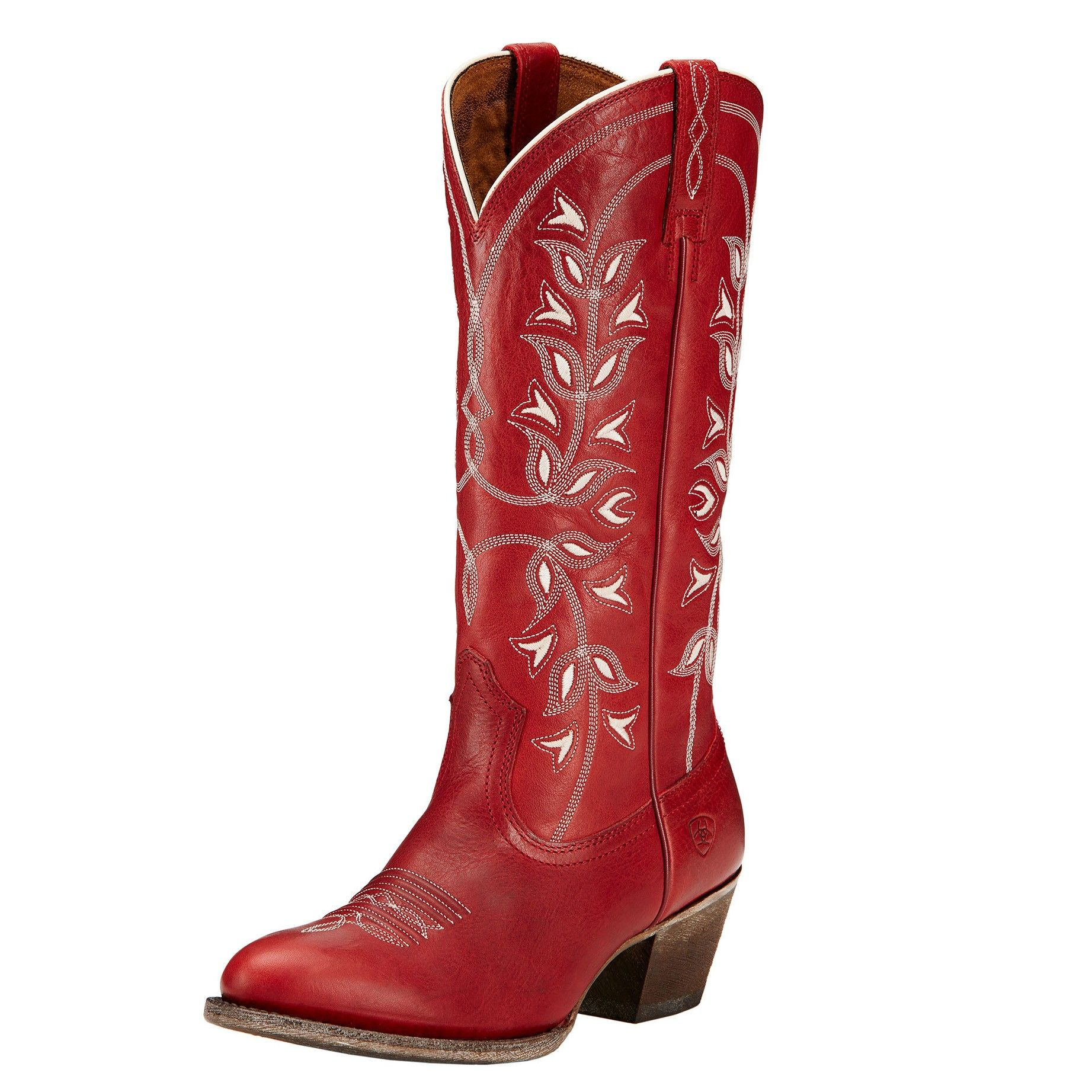 9dd9569b415 Ariat Womens Desert Holly Round Toe Cowboy Boots Rosy Red