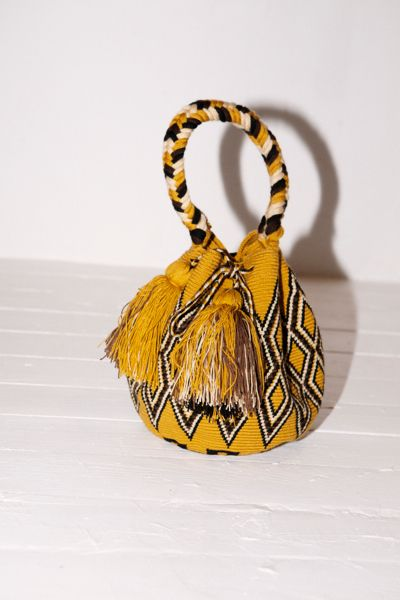 HAND MADE JUST TRADE MOCHILA BAG IN GOLD