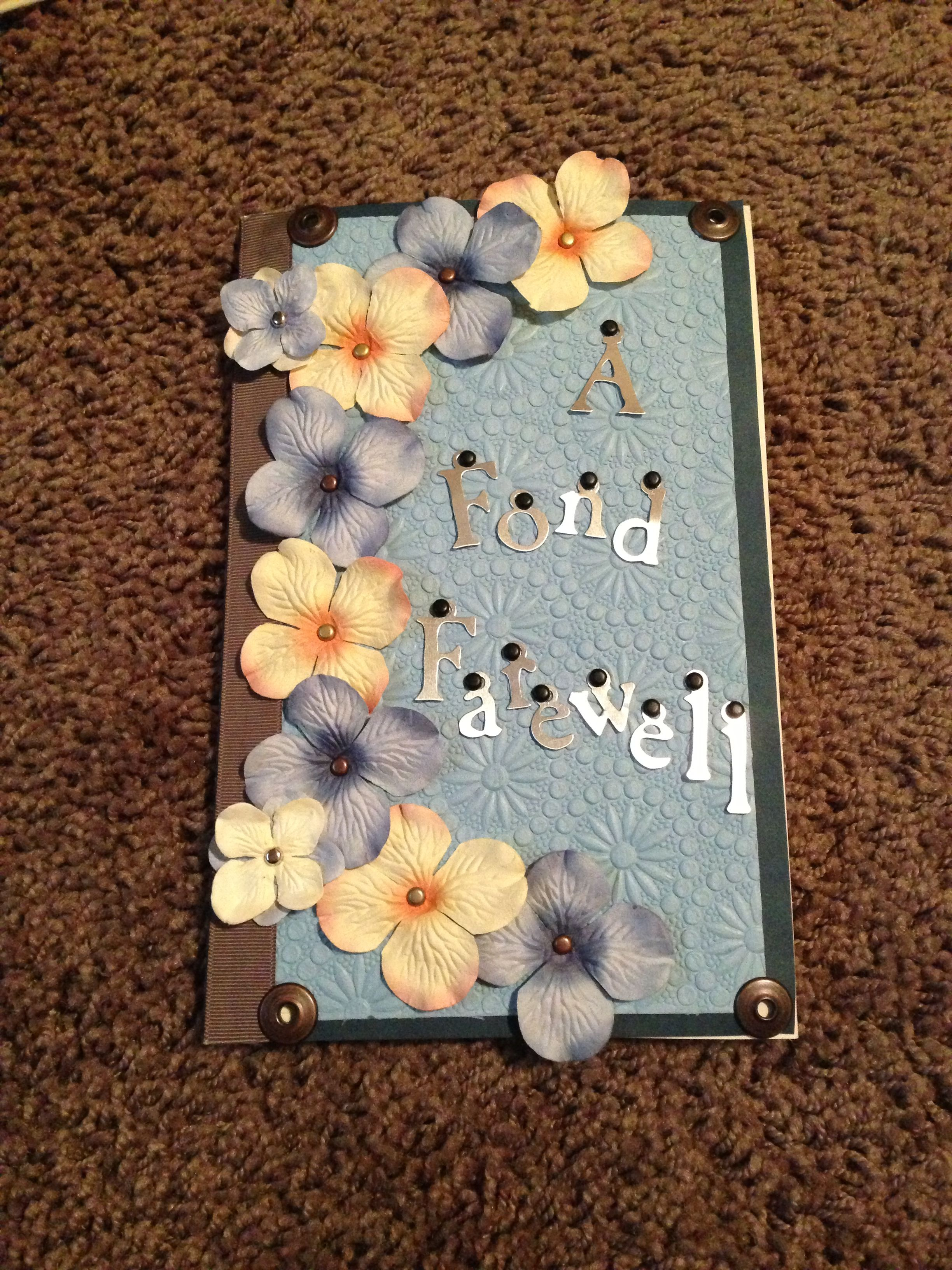 Farewell Card Farewell cards, Card making, Scrapbook cards