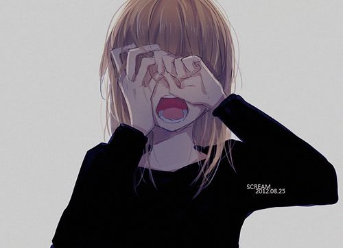 Anime Girl Crying Funny