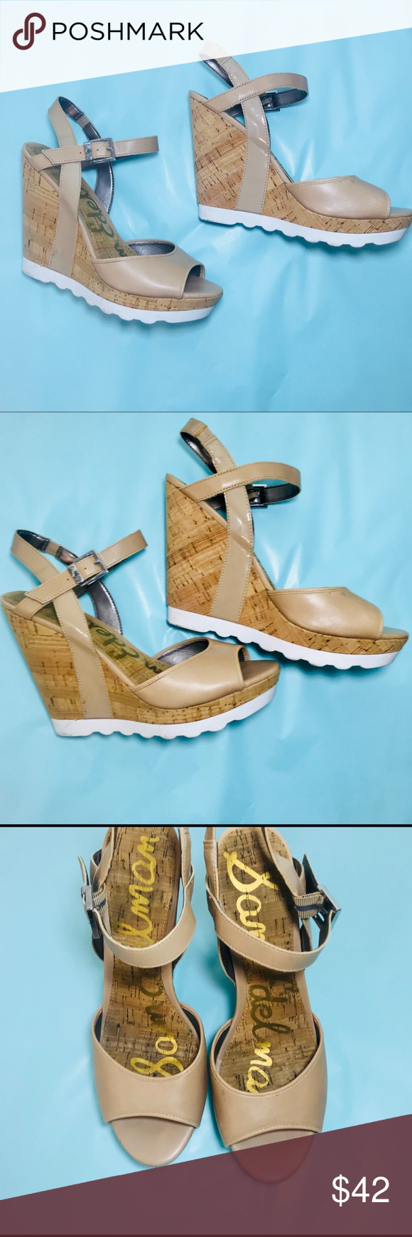 63abf4c229ac Sam Edelman Karina Platform Wedge Sandal Tan Sam Edelman Karina Platform  Wedge Sandal Tan with cute