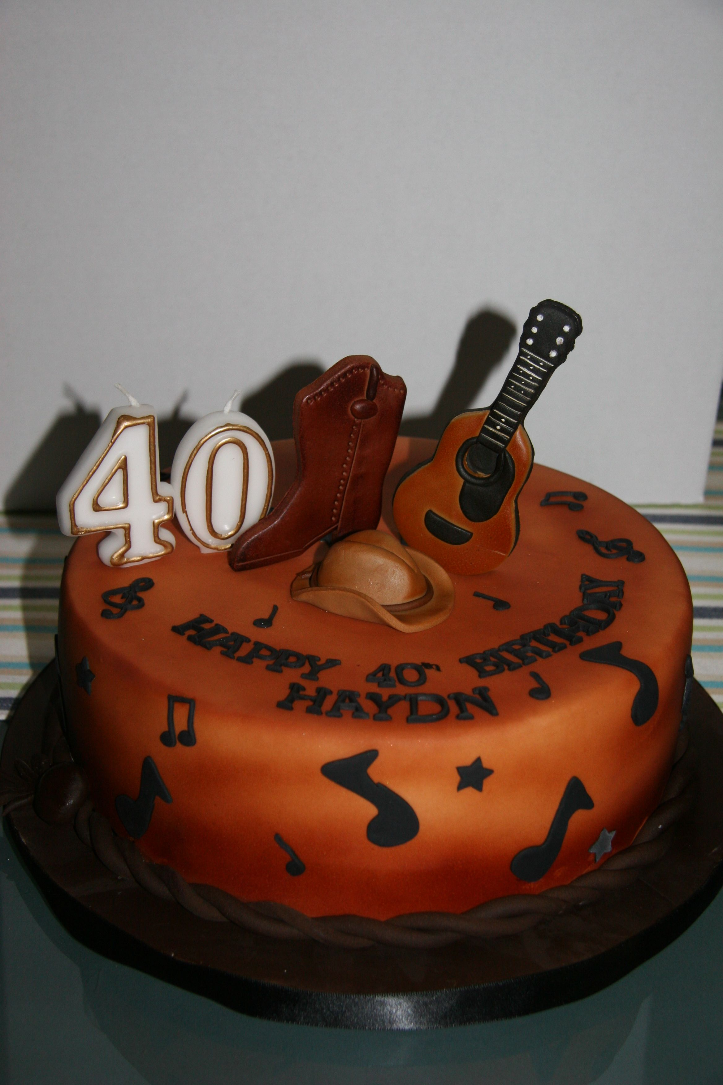 Country And Western Music Themed Cake