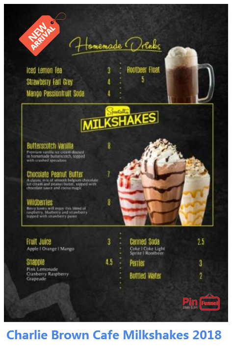 Singapore Best Milkshake Drinks 2018 Now At Charlie Brown Cafe Cathay Cineleisure Orchard Mall Check Out Over 7 Charlie Brown Cafe Best Milkshakes Milkshake