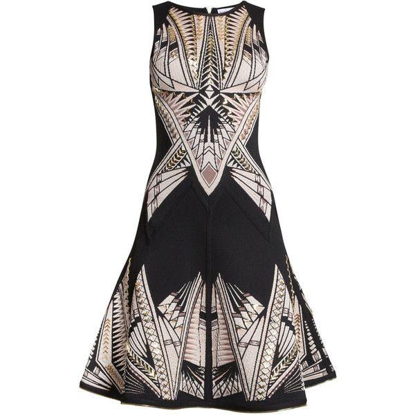 75a9c1a2fefa Herve Leger Polina Tattoo-Jacquard Dress (€650) ❤ liked on Polyvore  featuring dresses