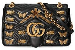 184ee536c67 Gucci GG Marmont Medium Insect Shoulder Bag in 2019