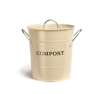 2in1 lid with rubber seal compost bucket