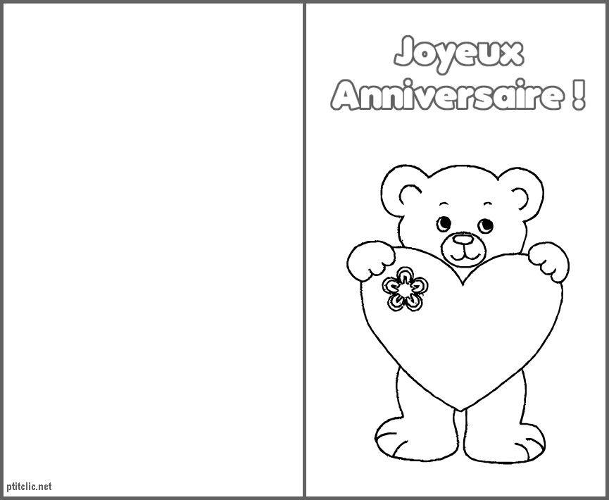 carte d anniversaire à colorier Coloriage D'anniversaire Pour Marraine Unique Dessin Colorier
