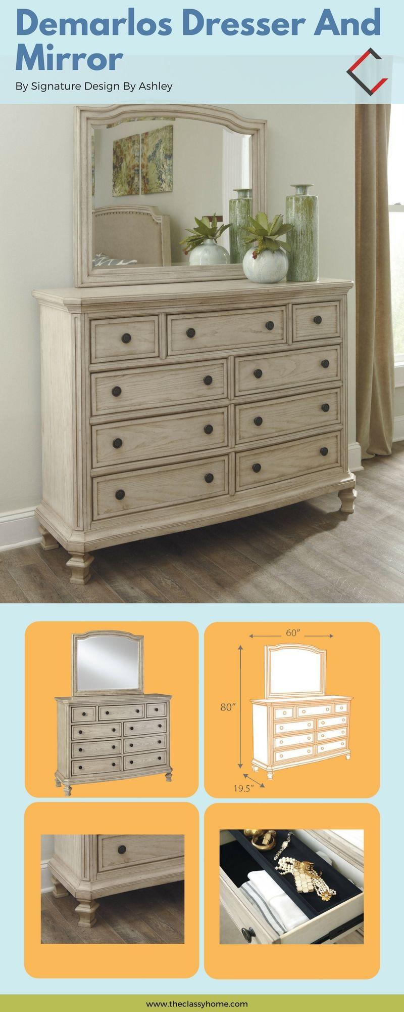 Ashley Furniture Demarlos Dresser And Mirror White Wood Dresser